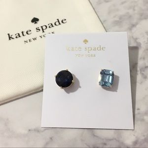 Kate Spade ♡ Mismatched Blue Faceted Stud Earrings